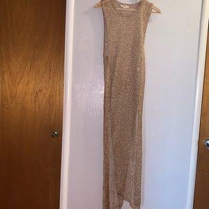 a'gaci Dresses - Metallic knit dress